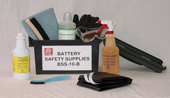 Battery Safety Supplies Kit.