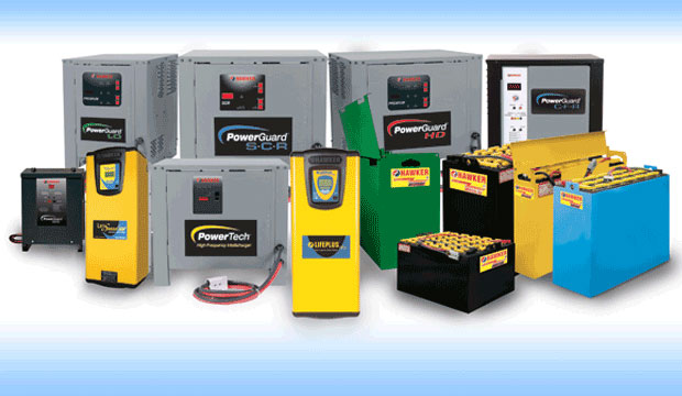 Forklift Batteries and Chargers.